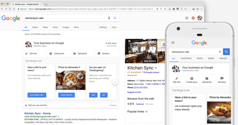traducir cartas de restaurante Google My Business